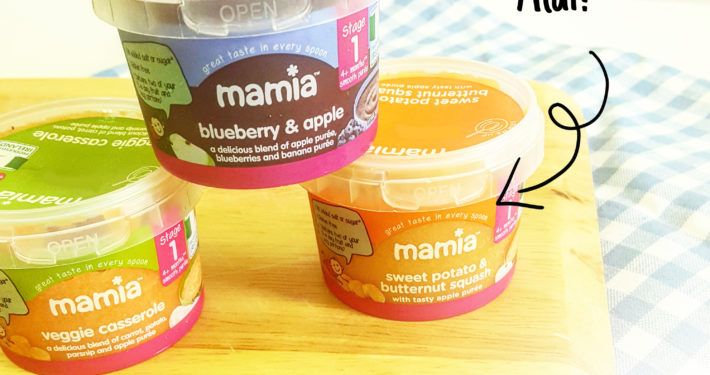 Stage 1 Mamia Chilled Baby Food mamia and aldi logo