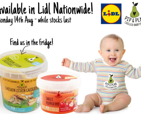 Pip and Pear Available in Lidl weaning