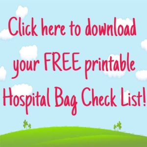 hospital bag checklist weaning pip and pear